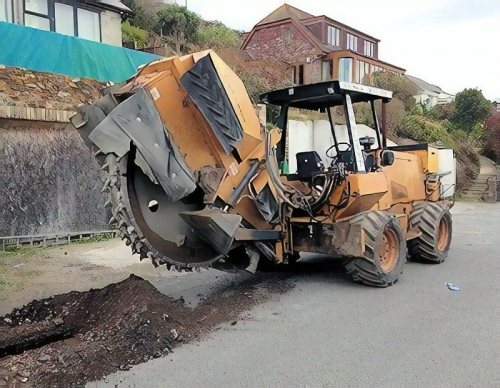 fibre optic trench digger