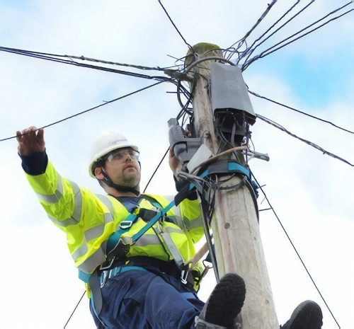 telegraph pole and bt engineer
