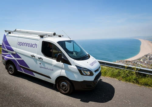 bt superfast fibre van