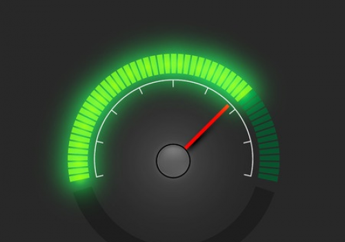 broadband internet speed speedometer