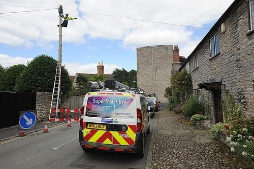 telegraph pole rural broadband openreach engineer