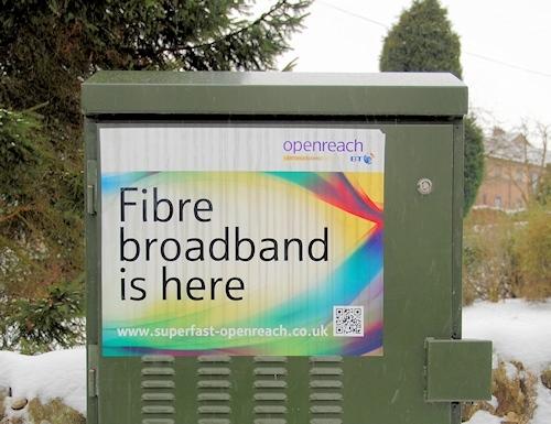 fibre broadband is here cabinet