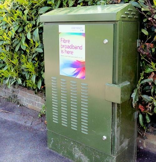 fibre broadband is here high bt street cabinet