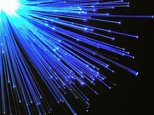 fibre optic blue strands storm