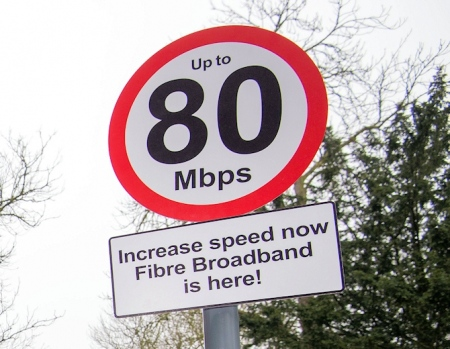 """80mbps bduk \""""up to\"""" broadband speed limit traffic sign"""