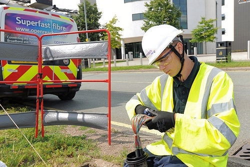 young openreach bt fibre optic engineer