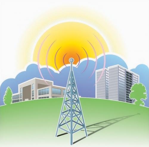 wireless radio spectrum mast