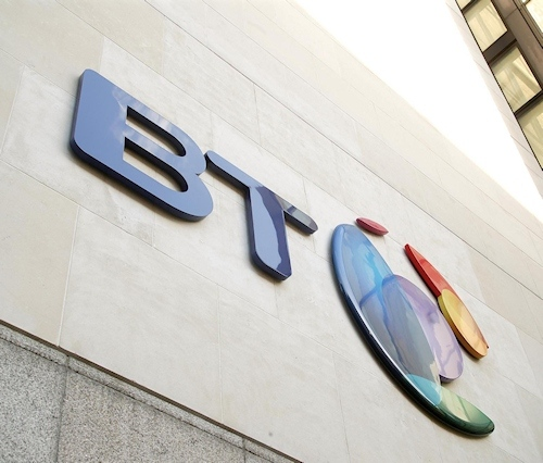 BT HQ UK Building Logo