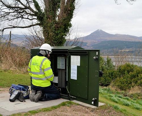 rural fttc openreach bt engineer at work