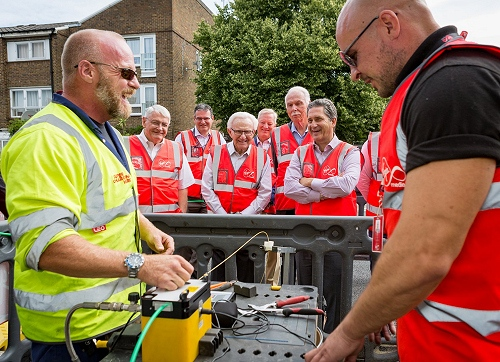 virgin media fibre optic install with mike fries and john malone