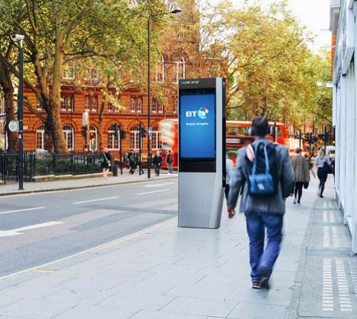 bt linkuk london uk Gigabit free wifi kiosk