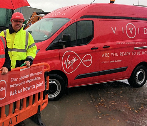 virgin media project lightning van wrexham