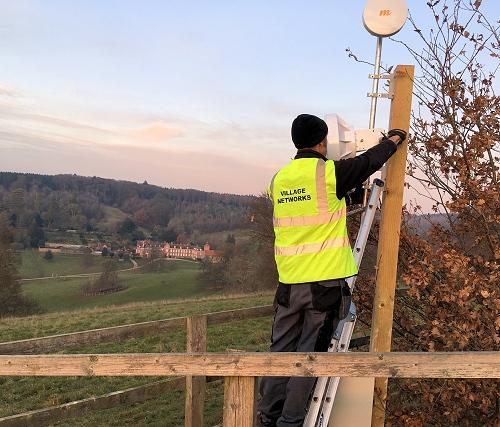 village networks isp wireless broadband mast