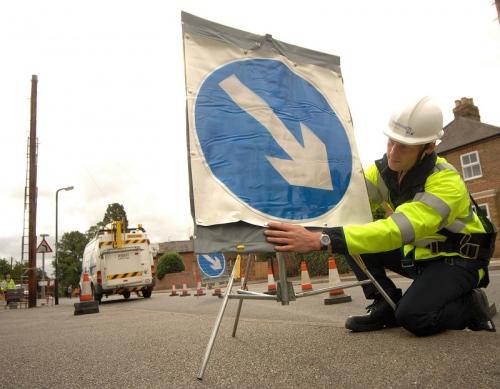 road diversion openreach work