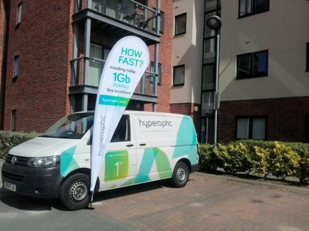 hyperoptic fttp fttb broadband engineer van