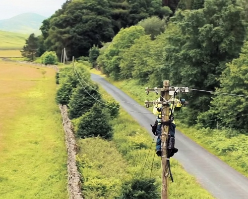 openreach 2017 rural telegraph pole engineer
