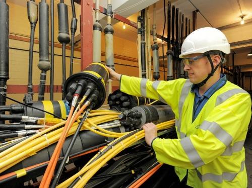 openreach core fibre optic telecoms cable