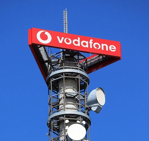 vodafone mast and logo