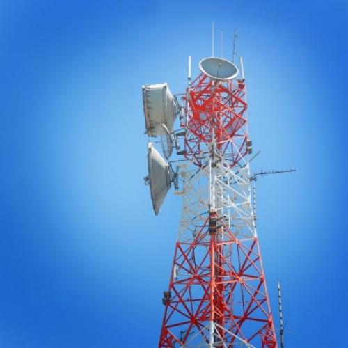 wireless microwave radio tower