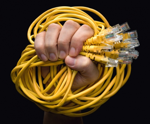 network congestion lan cables uk broadband isp