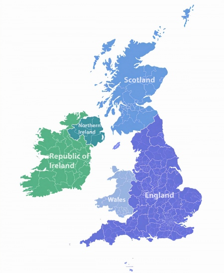 Map Of Ireland And England And Scotland.Good Broadband Helps Survey Find Top 50 Best Uk Places To Live