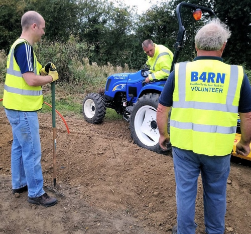 b4rn small digger ftth volunteers