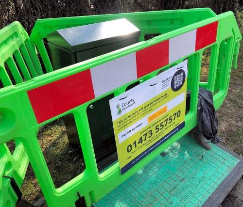 county broadband fttp cabinet fenced