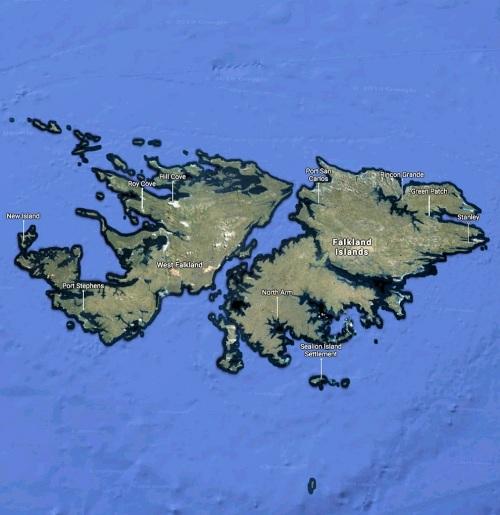 falkland islands map google