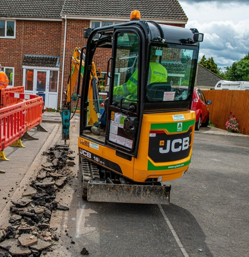 digger openreach fttp micro ducting