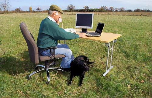 uk farmer john and dog george
