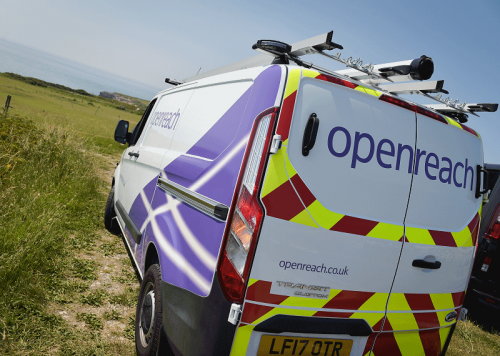 bt openreach uk engineers van