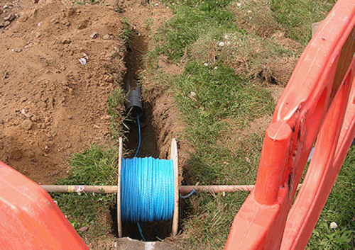 fibre optic cable trench uk