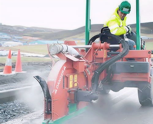 shetland telecom fibre optic microtrench dig