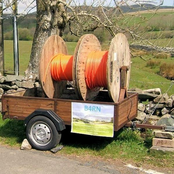 b4rn fibre optic cable rolls