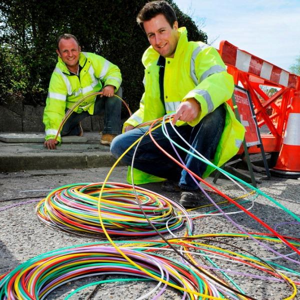 cityfibre colourful fibre optic cables