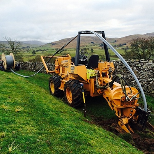 fell end rural fibre optic digging