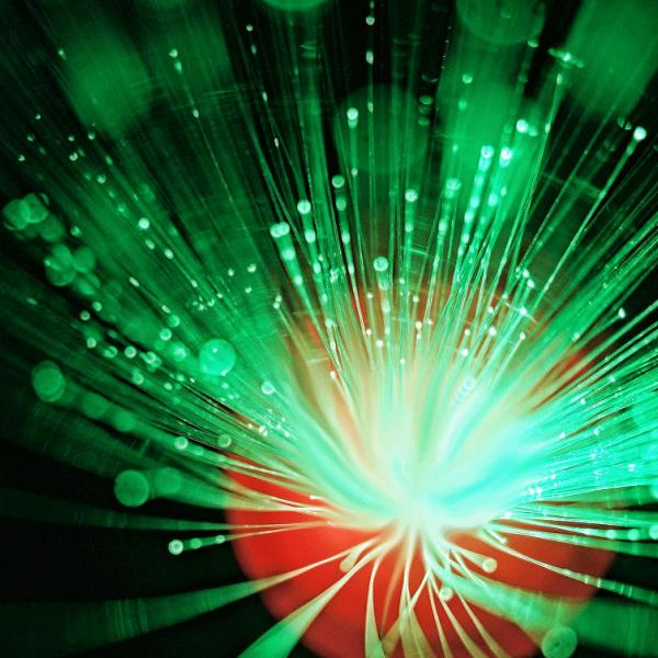 fiber optic cable blue