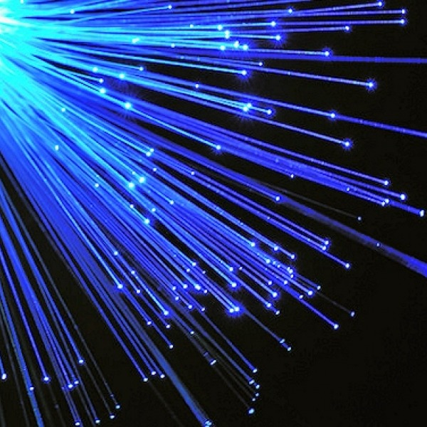 fibre optic blue strands storm