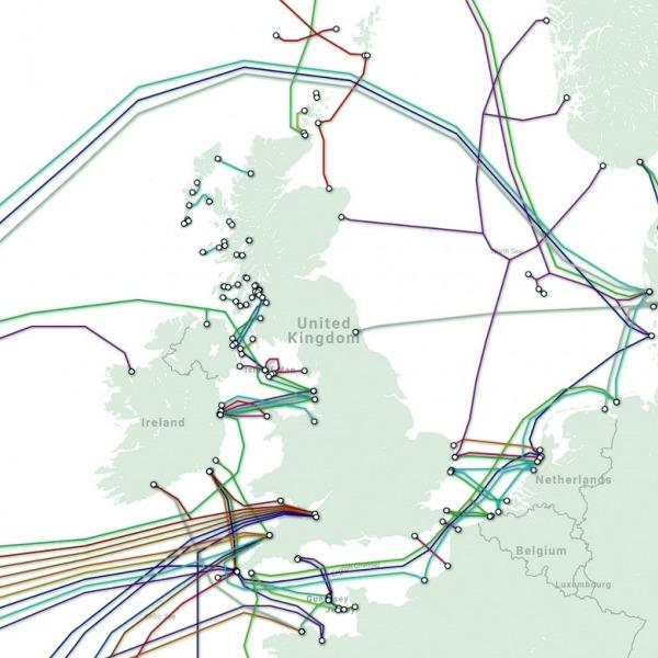 fibre optic cables into united kingdom