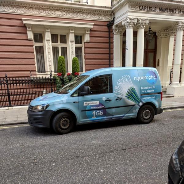 hyperoptic new van branding