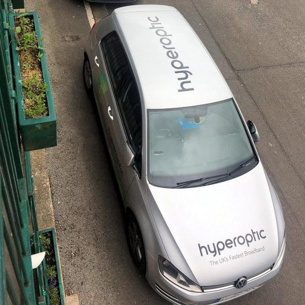 hyperoptic van in street