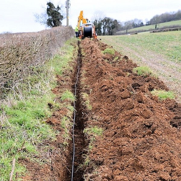 truespeed fibre optic dig to priston