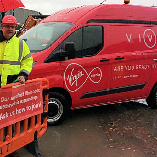 virgin media project lightning van wrexham