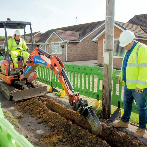 virgin media small trench digger fibre