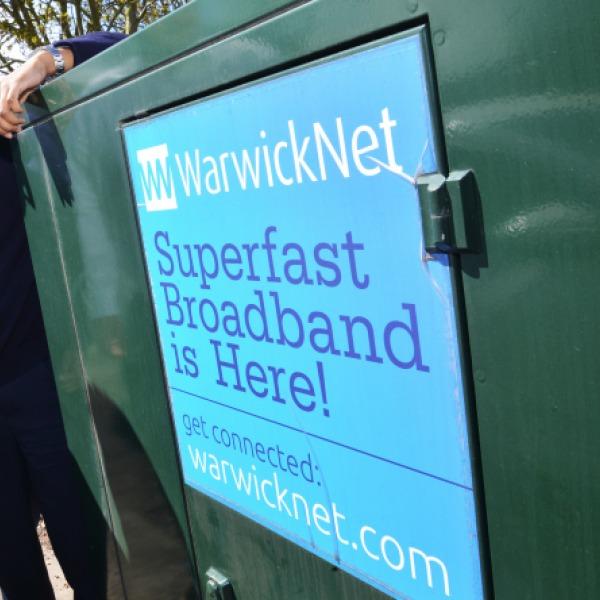 warwicknet superfast broadband cabinet