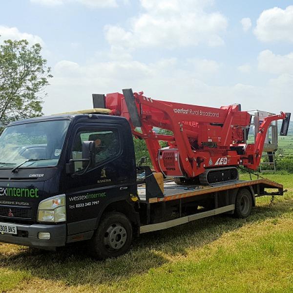 wessex internet cherry picker truck