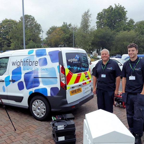 wightfibre van and engineers