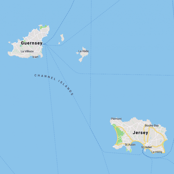 jersey and guernsey map uk