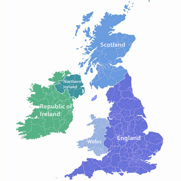uk map england scotland wales northern ireland