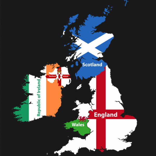 uk map of england wales scotland and northern ireland